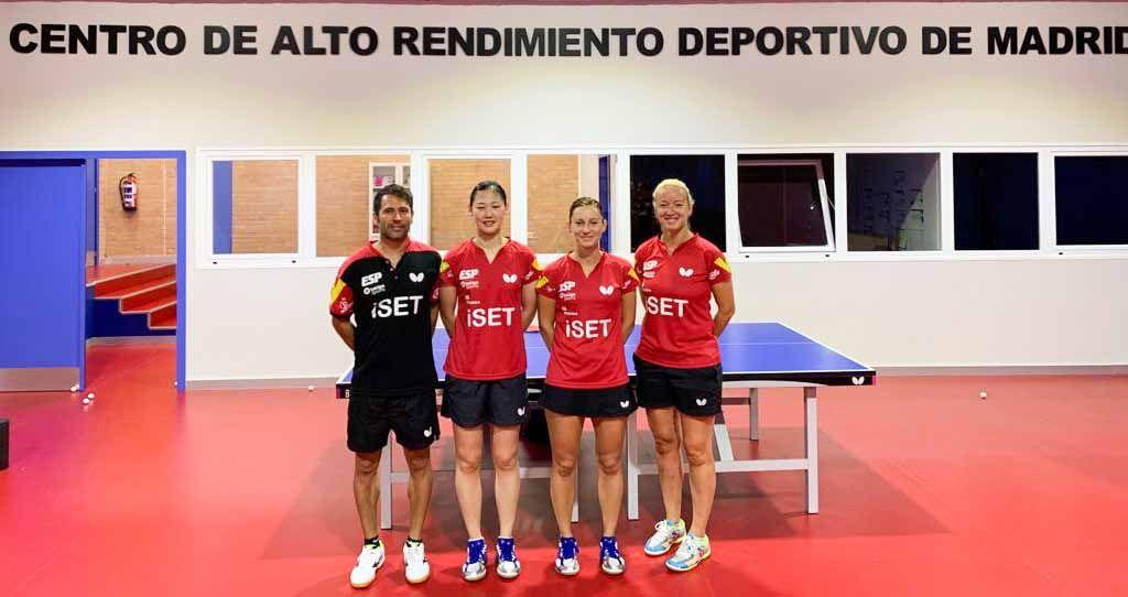 Equipo femenino en el CAR de Madrid