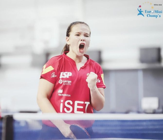 María Berzosa disputando el EuroMinichamps 2019