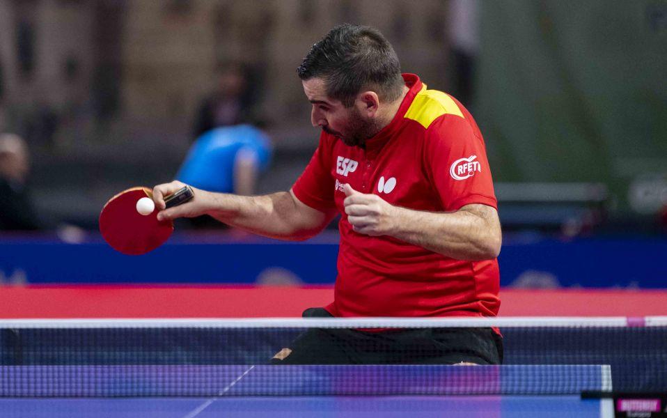 Jesús Cantero participa en un torneo ITTF World Tour. (Foto: Alvaro Díaz)