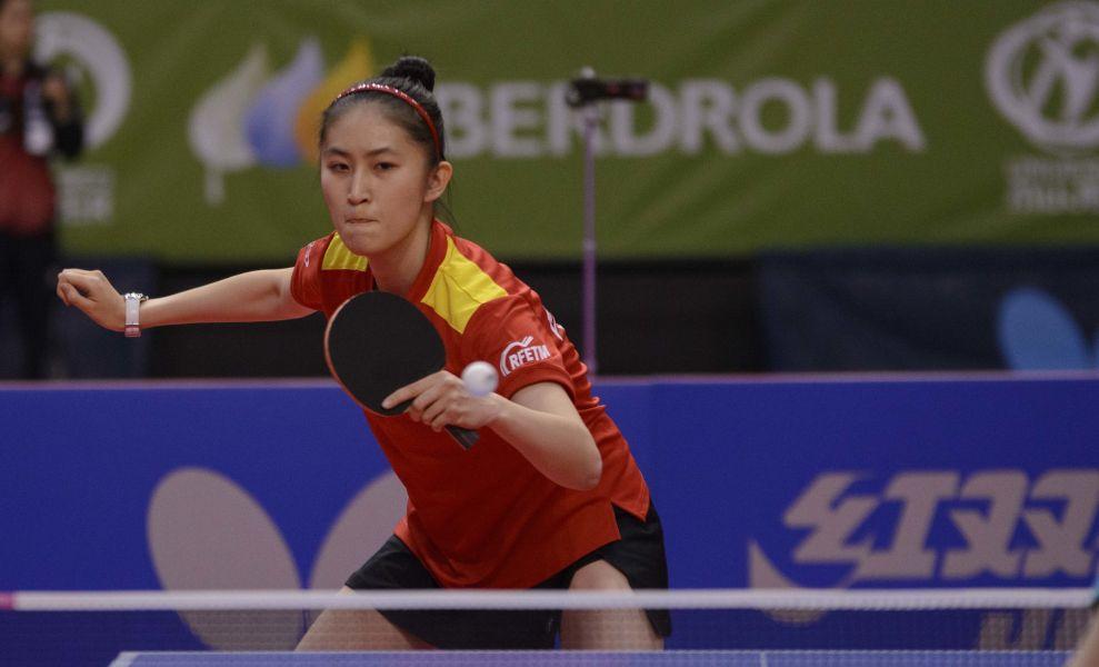 Sofía Xuan Zhang participa en un torneo ITTF World Tour. (Foto: Alvaro Díaz)