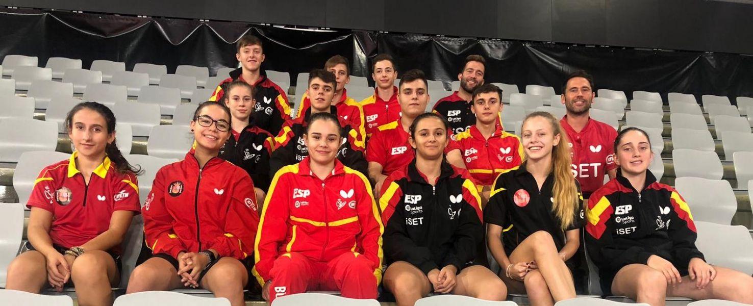 Foto de la delegación española junior en Croacia