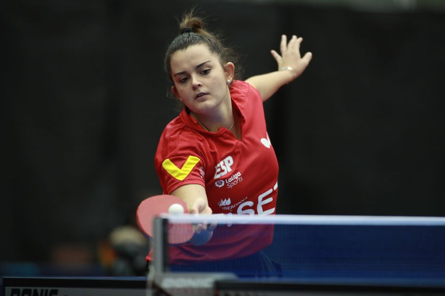 Ana Garcia disputando el  ITTF World Tour Platinum Austrian Open 2019 (Foto: ITTF)