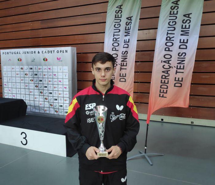 Albert Vilardell, plata en el ITTF Junior de Portugal (Foto: RFETM)