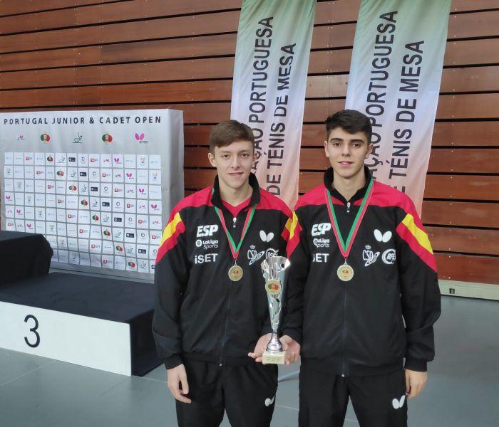 Arnau Pons y Miguel Nuñez, plata en el ITTF Junior de Portugal