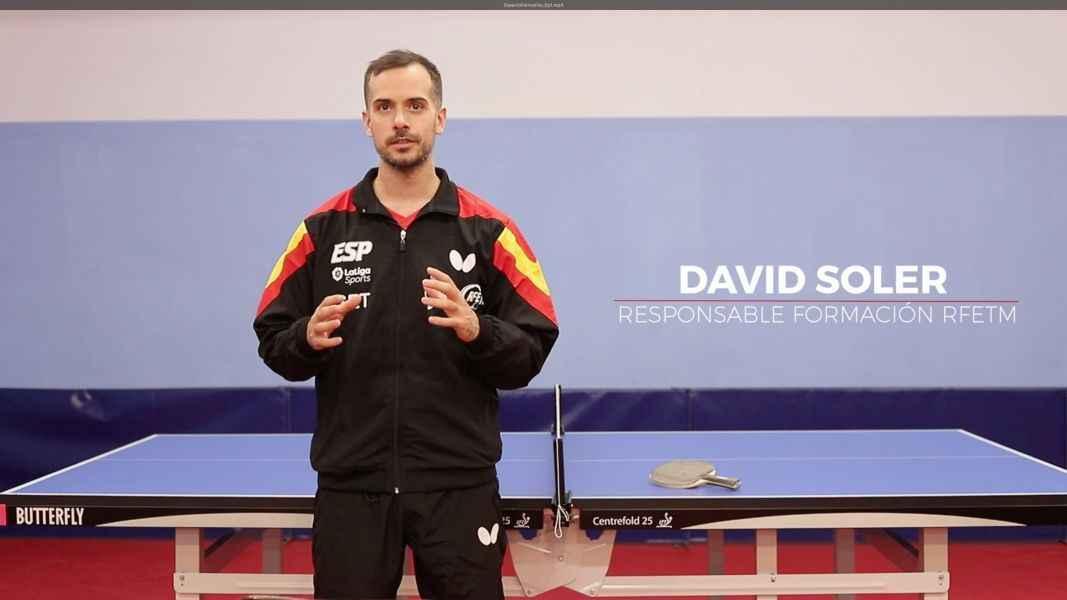 David Soler durante la grabación del primer video formativo