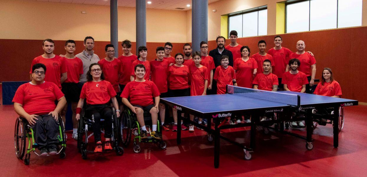 Foto de familia de la Concentración de Promesas Paralímpicas