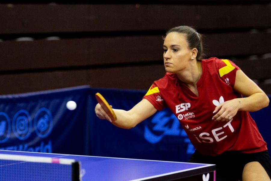 Marina Ñiguez disputando el ITTF Challenge Spanish Open 2020 (Foto: Isaac Morillas)