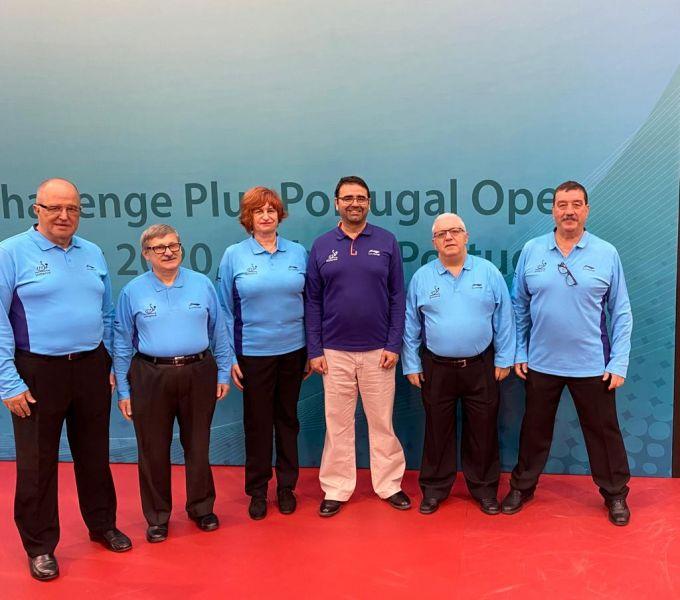 Arbitros españoles en el ITTF Challenge Plus de Portugal 2020