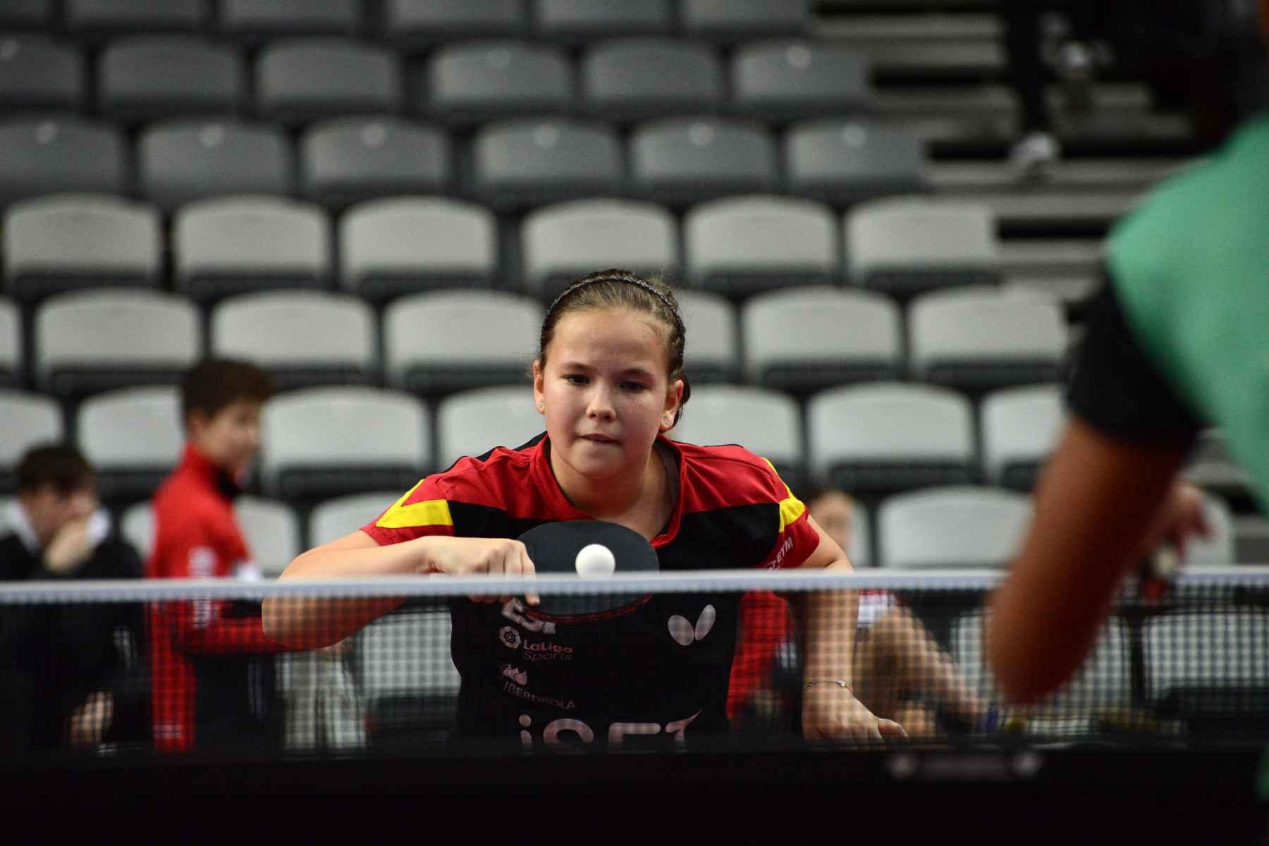 María Berzosa disputando un torneo con la Selección Española