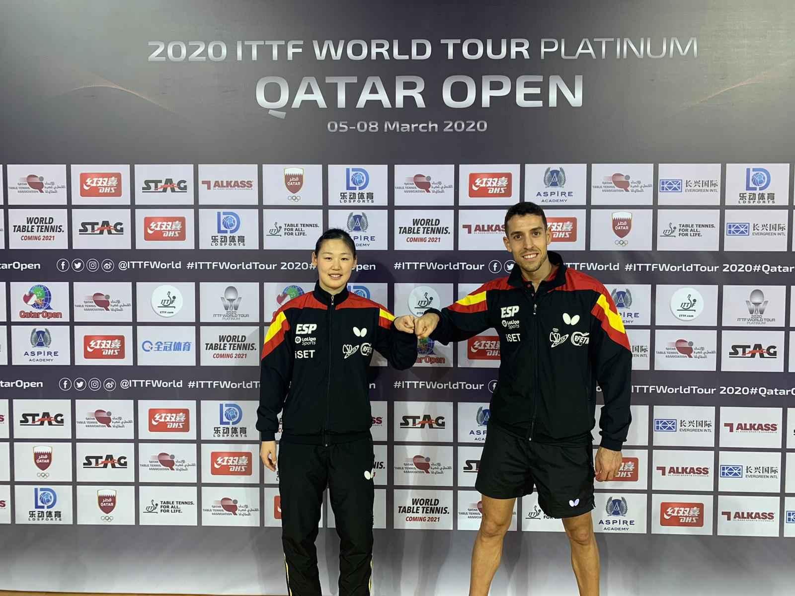 Alvaro Robles y María Xiao en el Open de Qatar