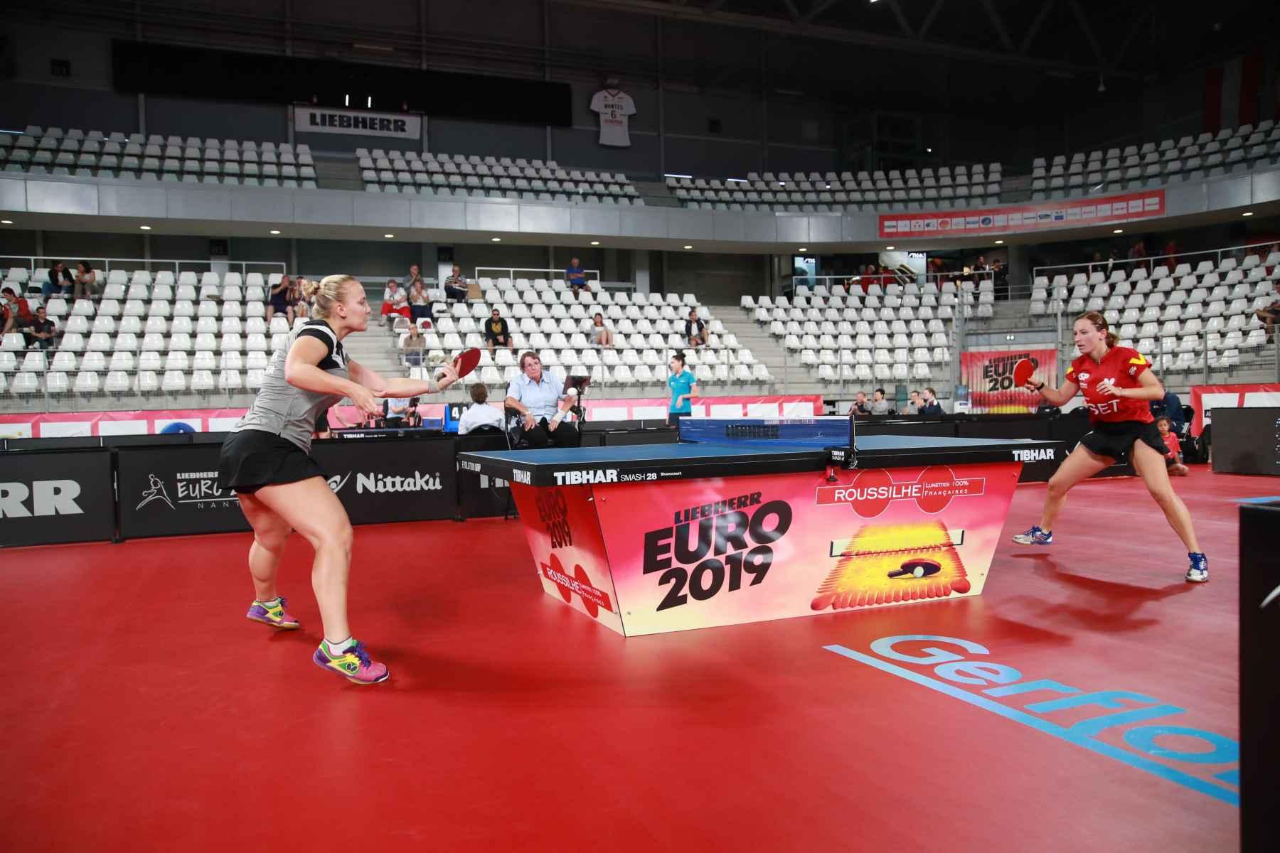 Galia Dvorak disputando el Campeonato de Europa por Equipos 2019 en Nantes (Francia)