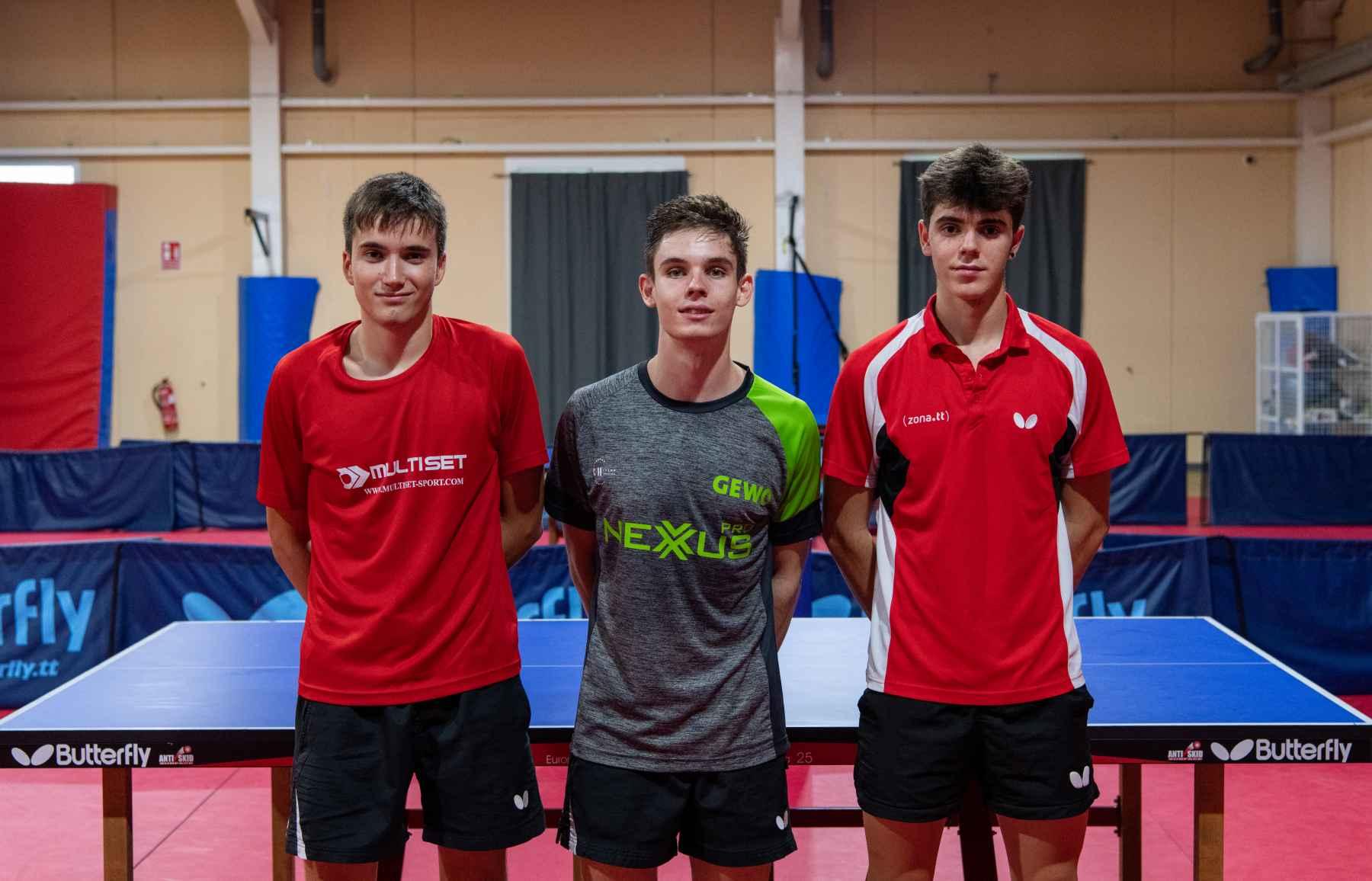 Podio del torneo interno juvenil en el CTD Infanta Cristina (Murcia)