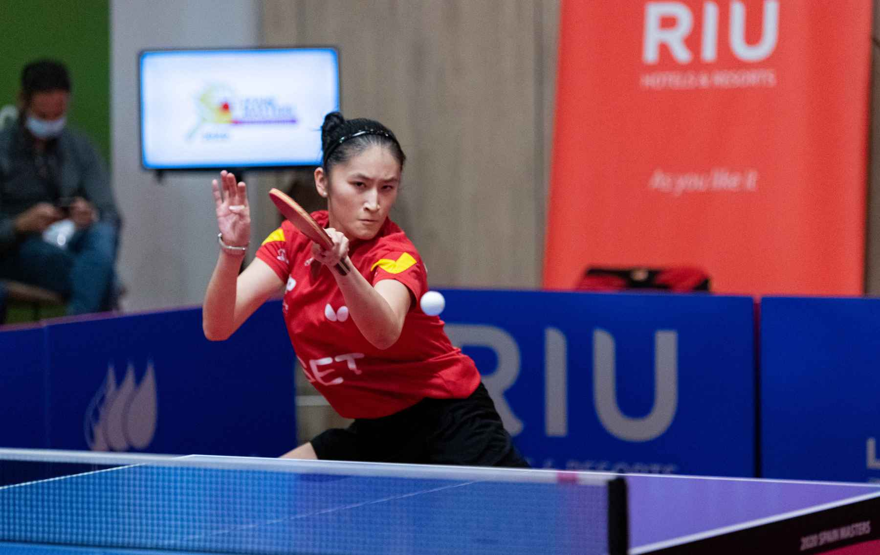Sofía-Xuan Zhang disputando el Iberdrola Spain Masters