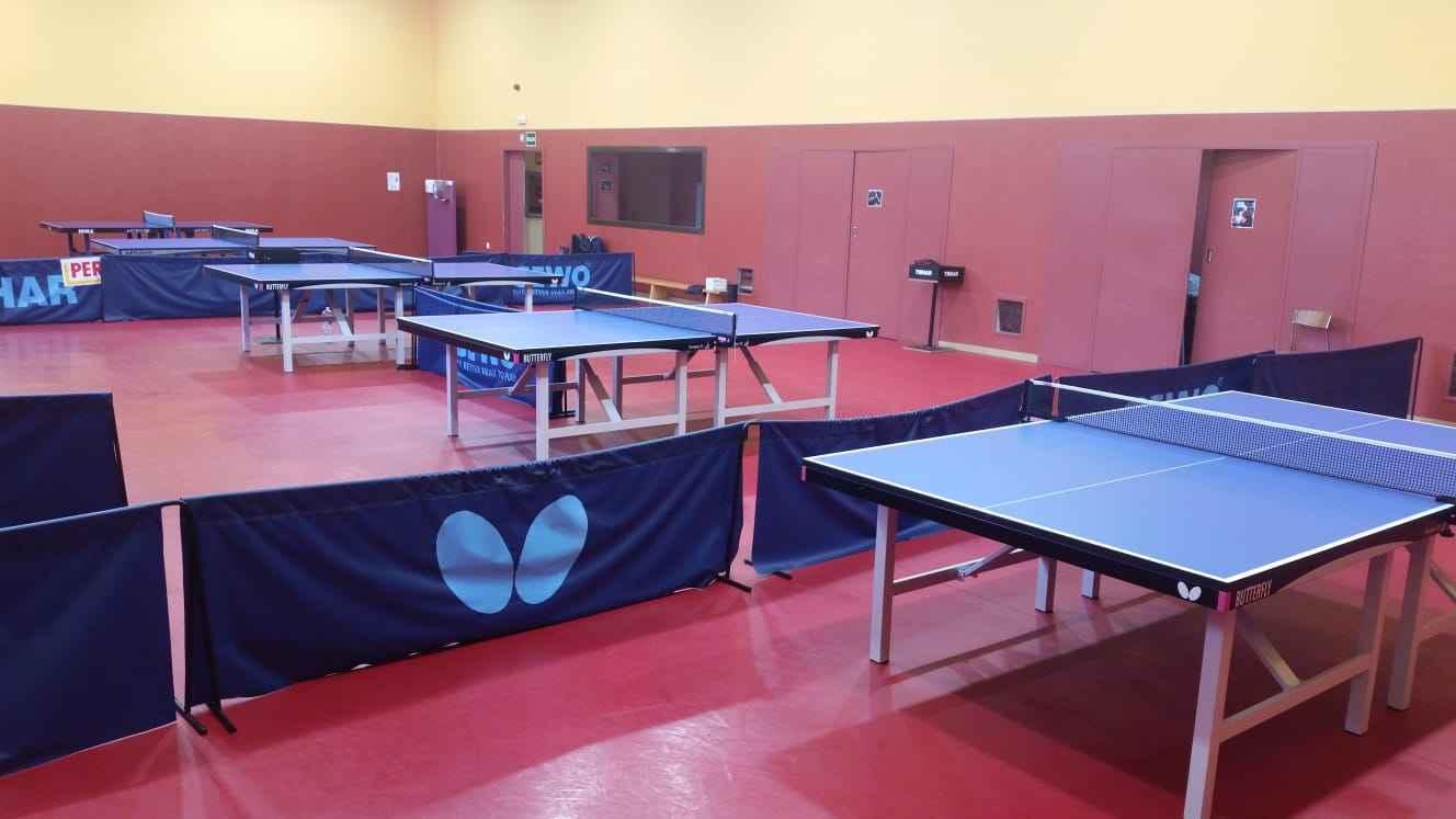 Sala de Tenis de Mesa en el CTD San Sebastián de los Reyes (Foto: Ramón Echanove)