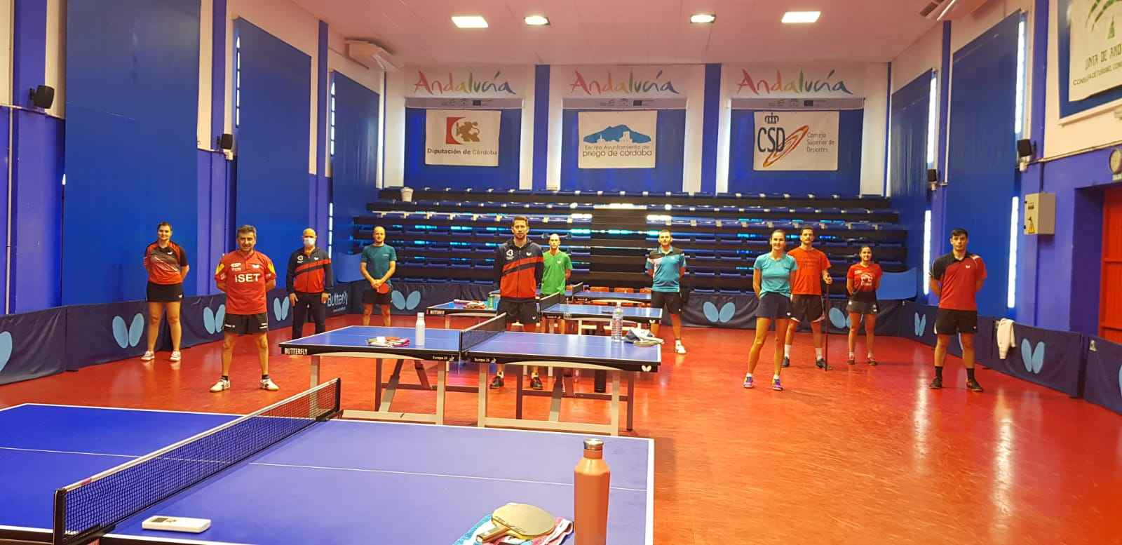 Juan Bautista Pérez con el grupo de entrenamiento en CETD Priego de Córdoba