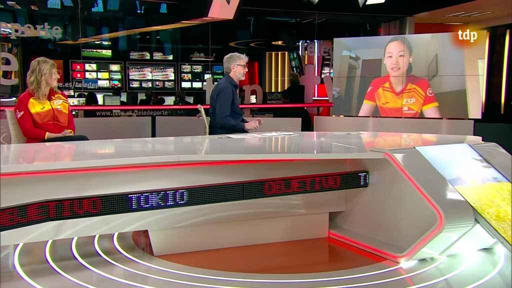 Galia Dvorak y Maria Xiao participando en Objetivo Tokio 145