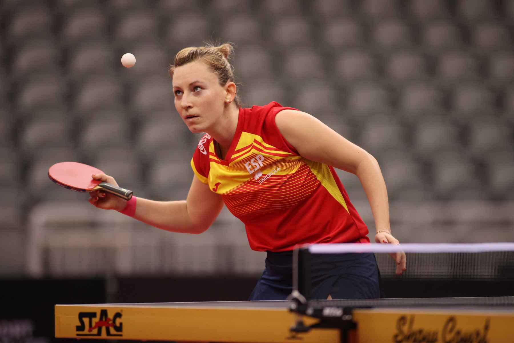 Galia Dvorak disputando el PreOlimpico Mundial (Foto: ITTF)