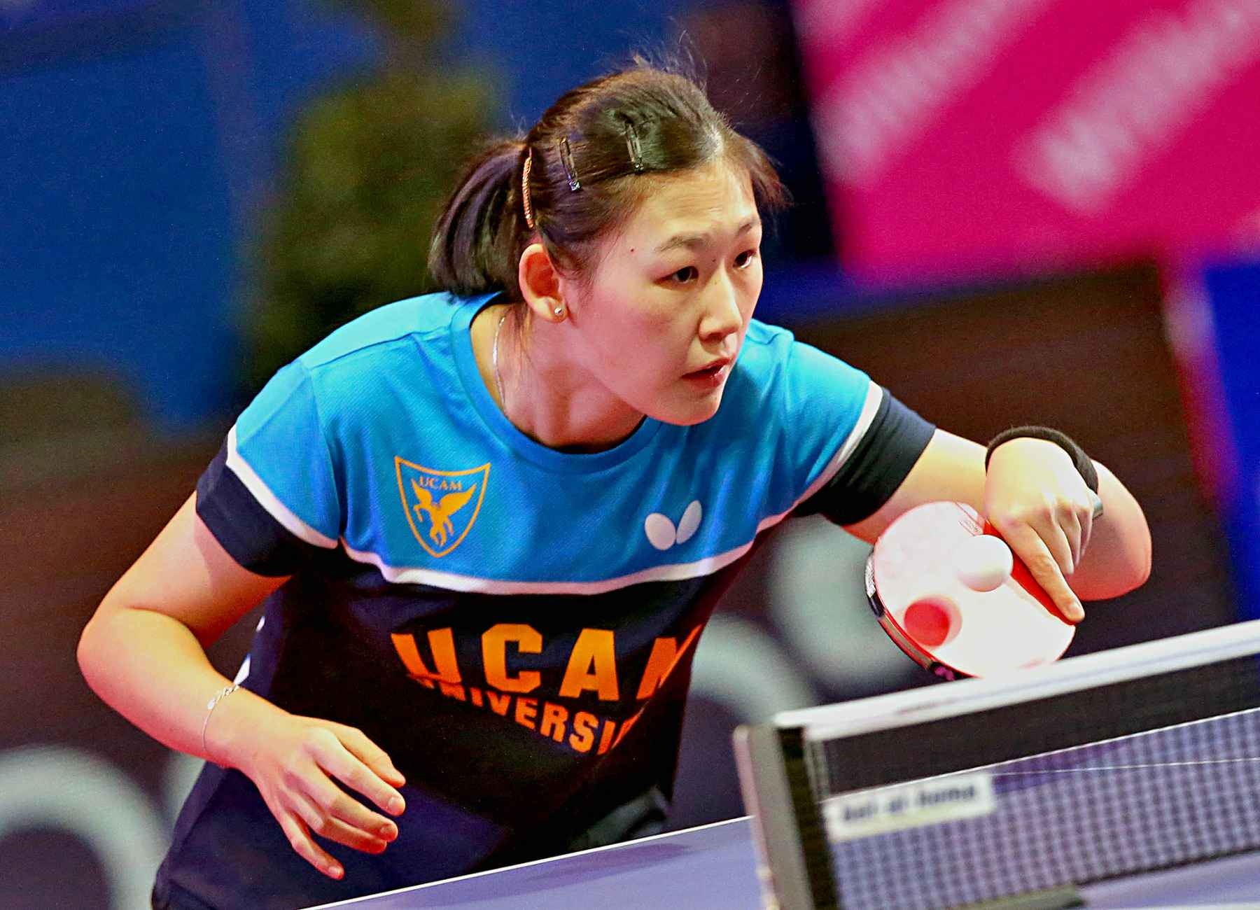 María Xiao, jugadora del UCAM Cartagena TM (Foto: ETTU)