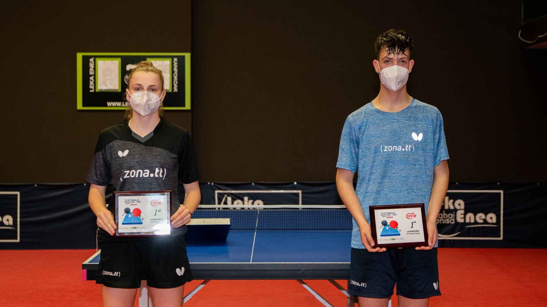 Silvia Coll y Hugo Urquízar, campeones del Trials Clasificatorio U15 2021 (Foto: Alvaro Diaz)