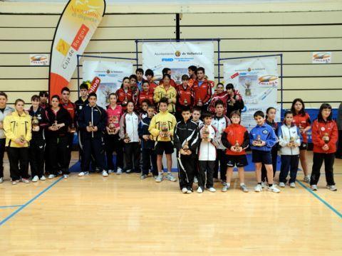 Fotos de los jugadores que recibieron medalla en las distintas pruebas. (Foto: Alberto Cano)