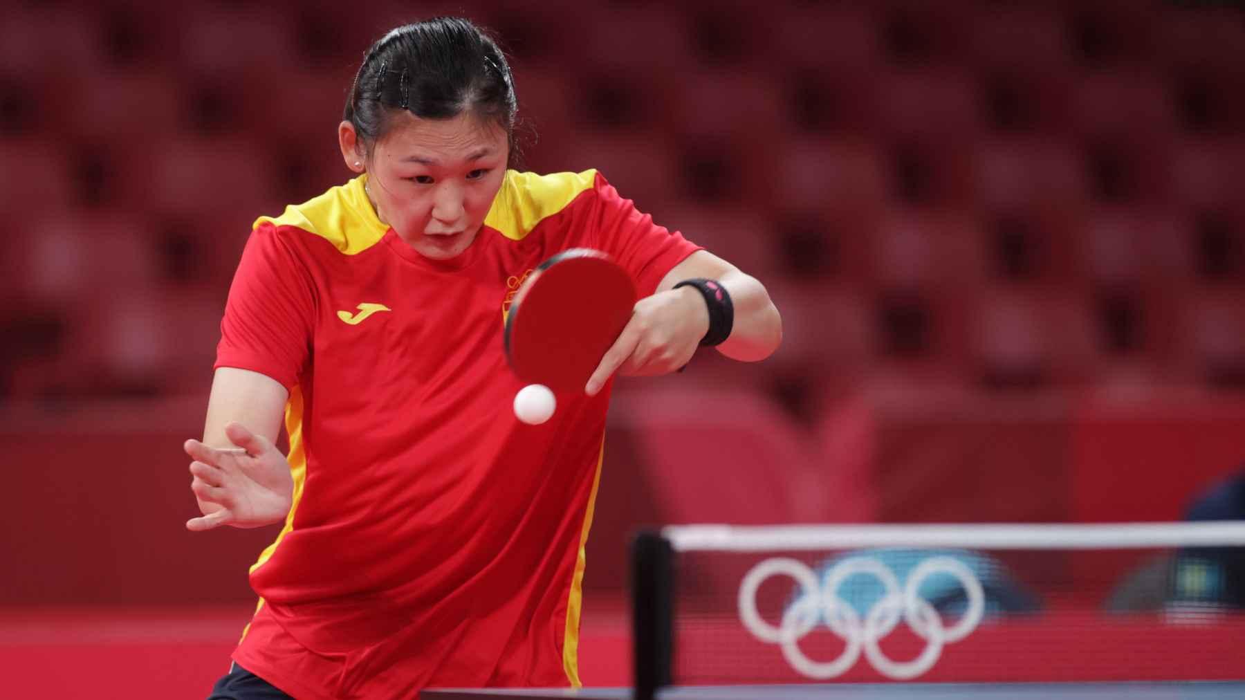 María Xiao disputando los Juegos Olímpicos de Tokyo 2020