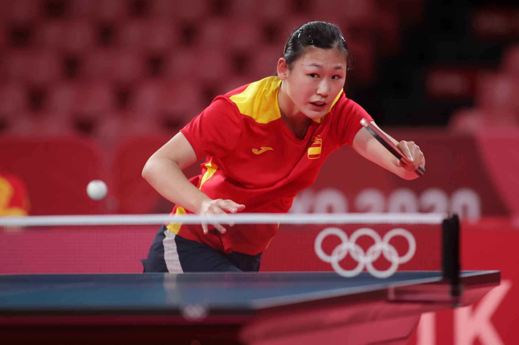 Maria Xiao disputando los Juegos Olímpicos de Tokyo 2020 (Foto: ITTF)