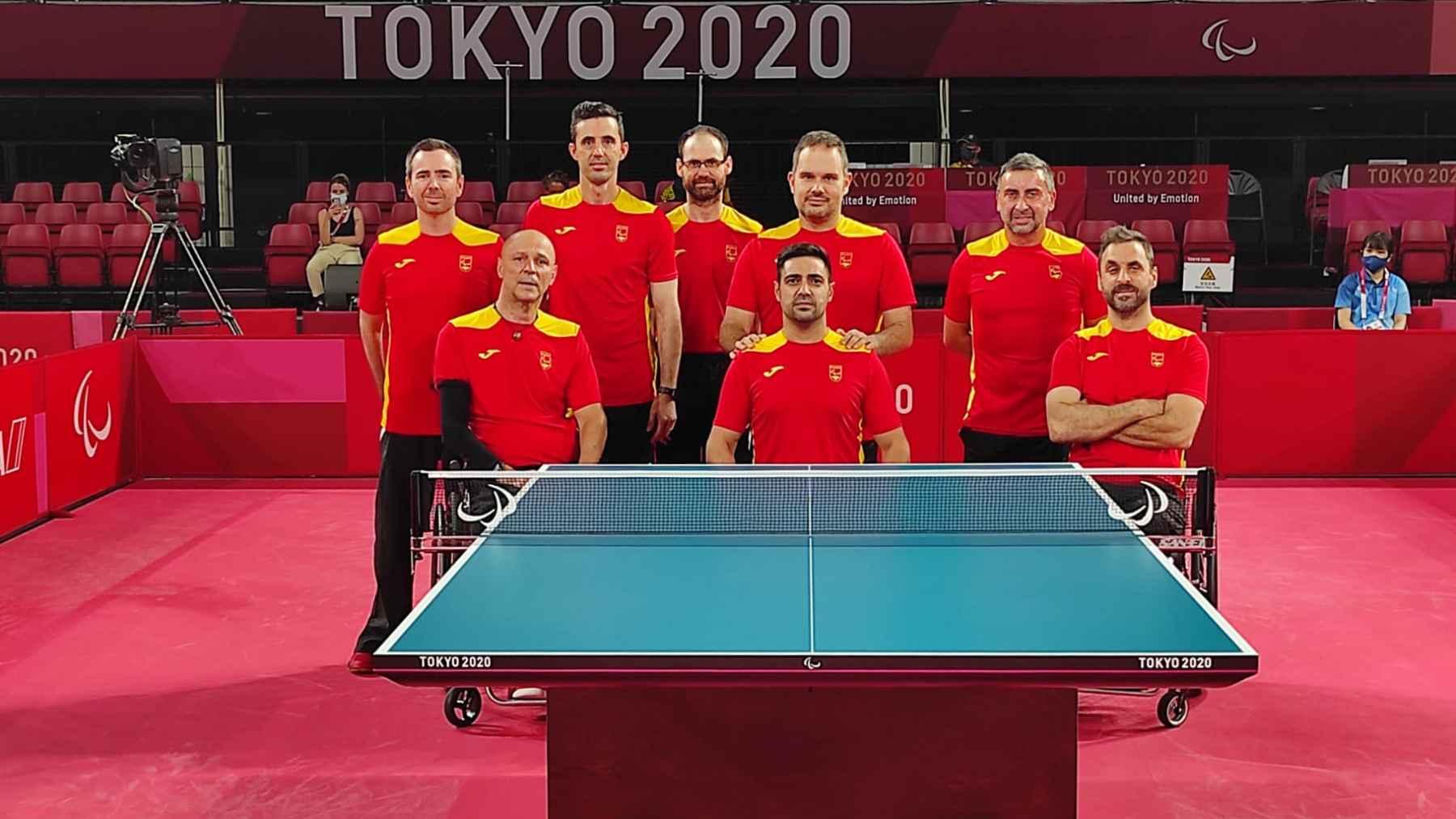 Equipo Paralímpico de Tenis de Mesa en el Pabellón de competición de Tokyo 2020
