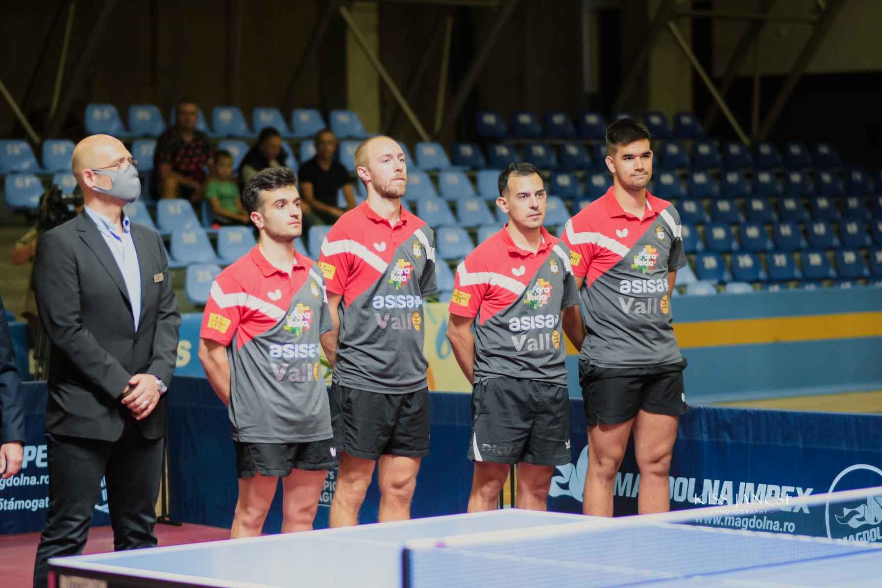El CTT Borges en la presentación de un partido de la R1 de la Champions League Men