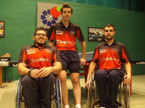 Tomás Piñas, José Manuel Ruiz y Francisco Javier López