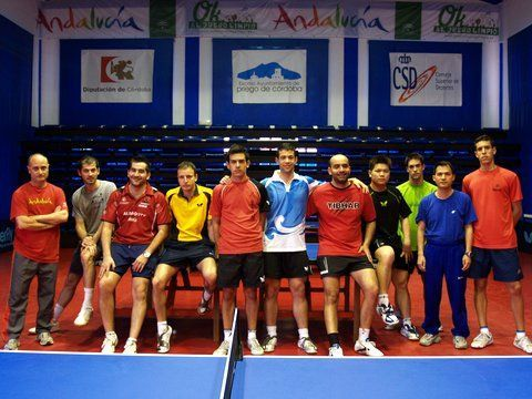 Selección absoluta masculina en el CETD de Priego de Córdoba.