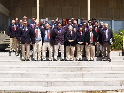 Algunos de los árbitros que han estado participando en el SYOC 2010.
